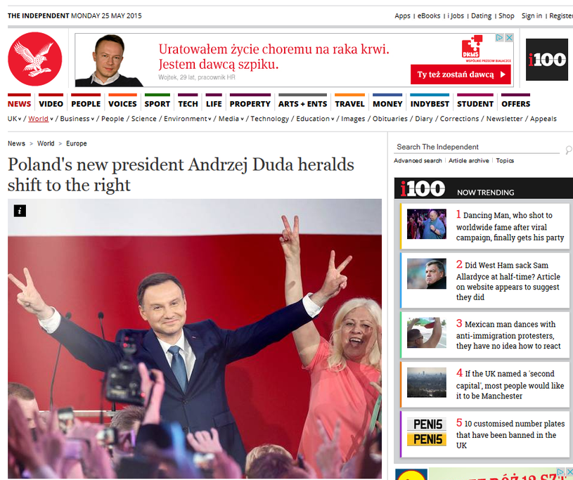 """The Independent"" o wyborach w Polsce /"