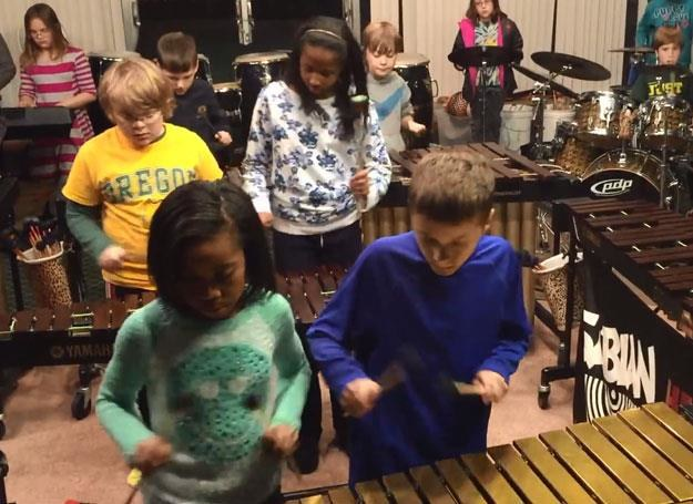 The Louisville Leopard Percussionists w akcji /