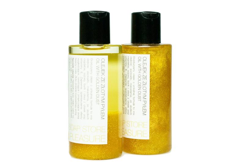 The Secret Soap Store: Golden Pleasure Olejek ze złotym pyłem do twarzy i ciała /materiały prasowe