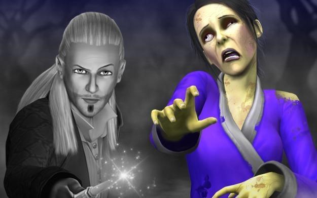 The Sims 3: Nie z tego świata - motyw graficzny /Informacja prasowa