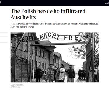 """""""The Times"""" opublikował fragment biografii Pileckiego"""