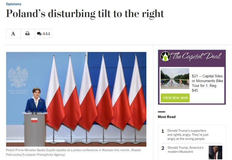 """The Washington Post"" o Polsce /"