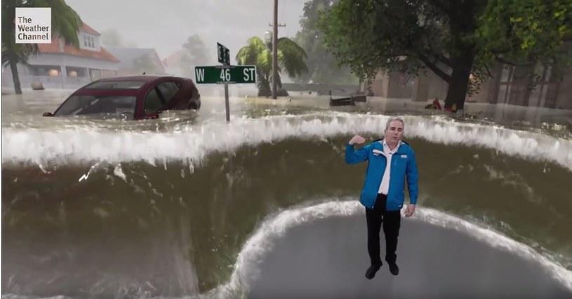 The Weather Channel - fragment prezentujący niszczycielską siłę huraganu /materiały prasowe