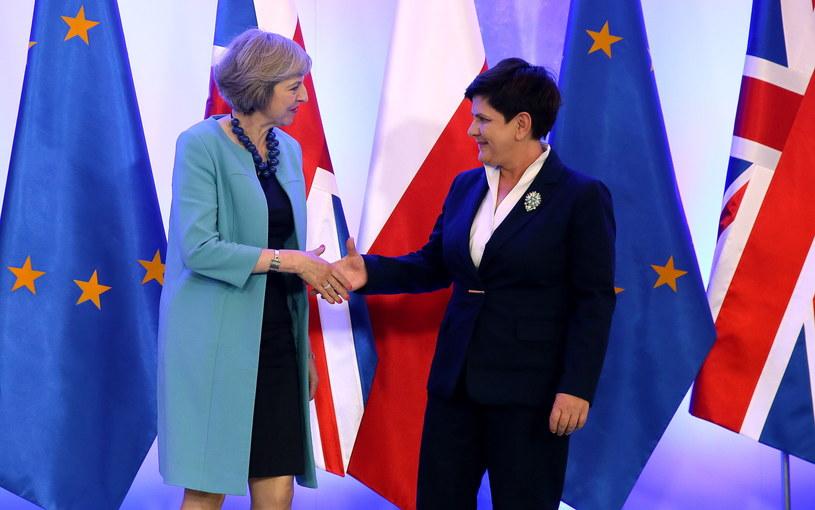 Theresa May i Beata Szydło /Tomasz Gzell /PAP