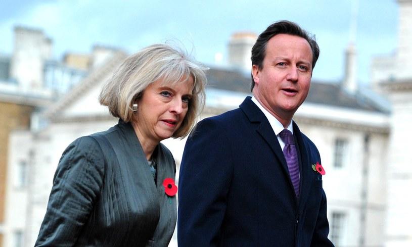 Theresa May i David Cameron /AFP