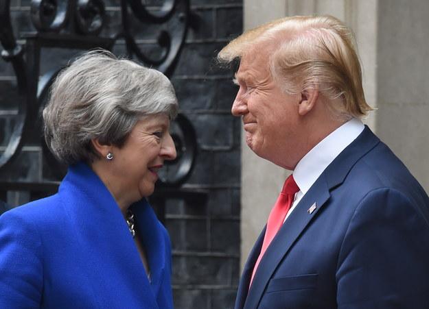 Theresa May i Donald Trump /FACUNDO ARRIZABALAGA /PAP/EPA