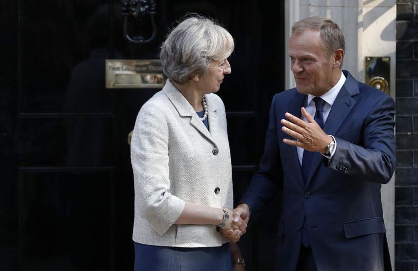 Theresa May i Donald Tusk /AFP