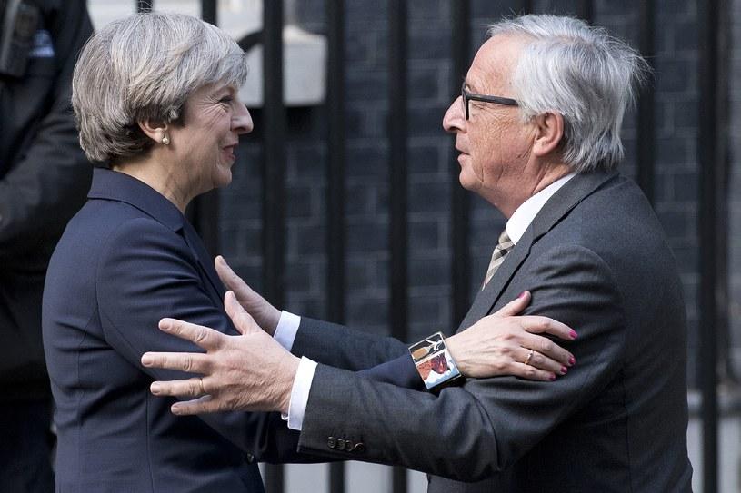 Theresa May i Jean-Claude Juncker /AFP