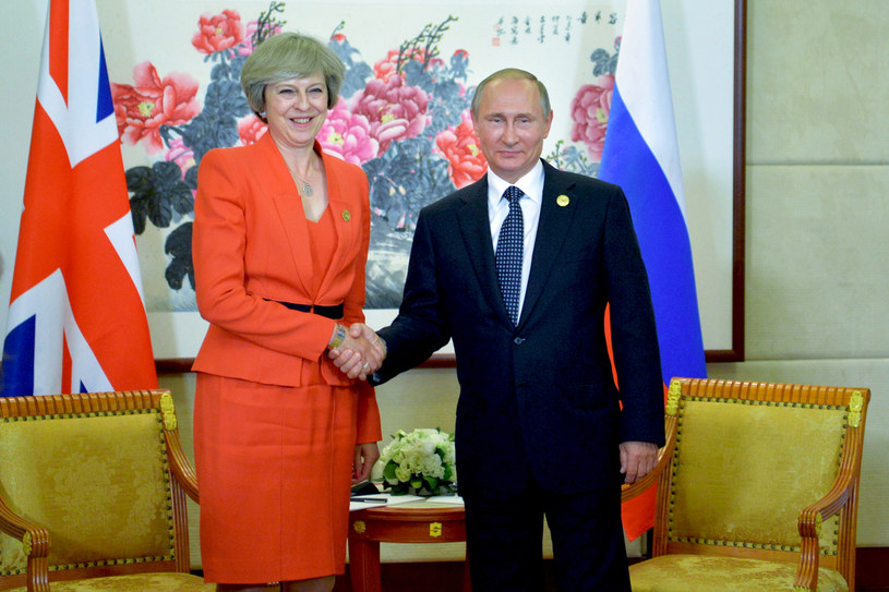 Theresa May i Władimir Putin /AFP