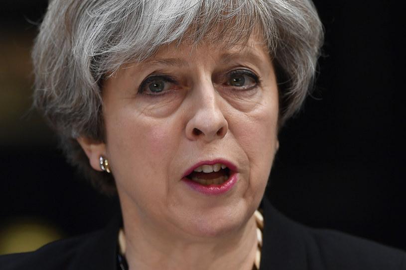 Theresa May komentuje zamach w Londynie /AFP