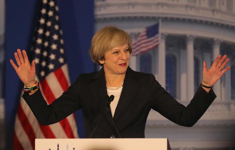 """Theresa May: Na Wielkiej Brytanii i Stanach Zjednoczonych """"spoczywa odpowiedzialność przewodzenia"""" /Christopher Furlong /AFP"""
