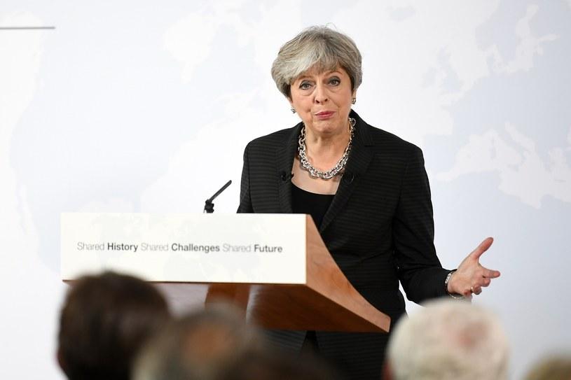 Theresa May podczas przemówienia we Florencji /Jeff J Mitchell /East News