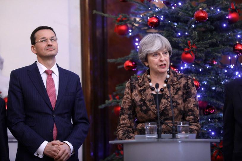 Theresa May w Warszawie /Rafał Guz /PAP