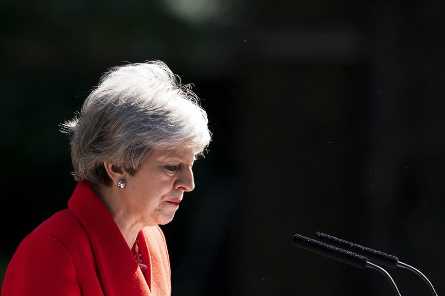 Theresa May zapowiada ustąpienie ze stanowiska /WILL OLIVER  /PAP/EPA