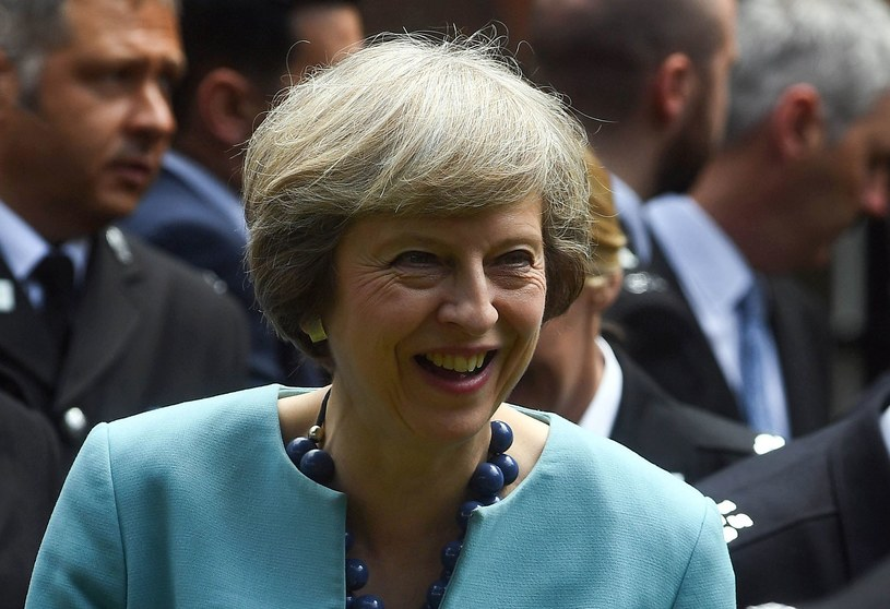 Theresa May /ANDREW PARSONS/ /AFP