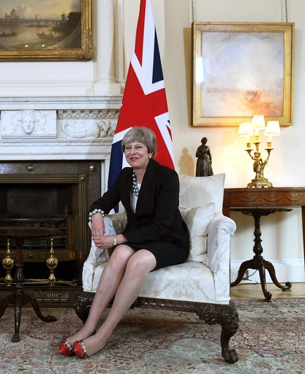 Theresa May /FACUNDO ARRIZABALAGA/POOL /PAP/EPA