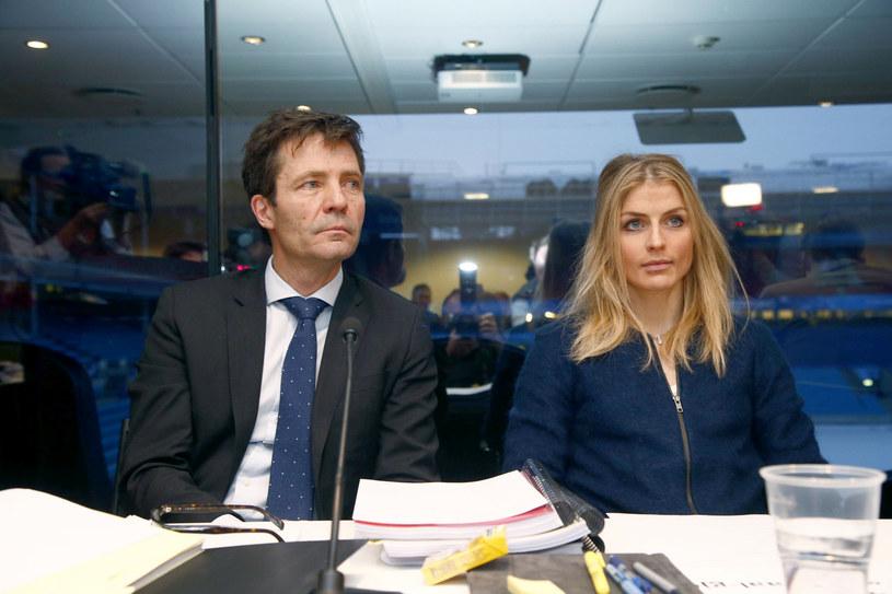Therese Johaug i jej prawnik Christian B Hjort /AFP