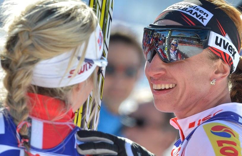 Therese Johaug i Justyna Kowalczyk /AFP
