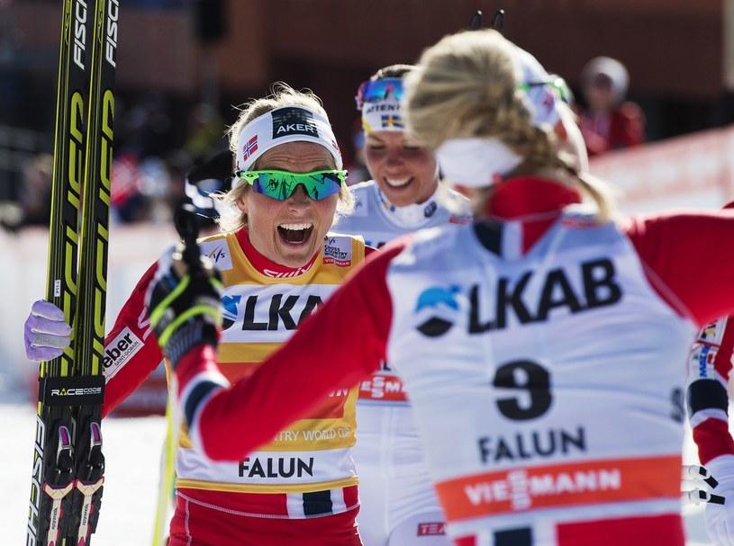 Therese Johaug już wie, że wygrała Puchar Świata /AFP