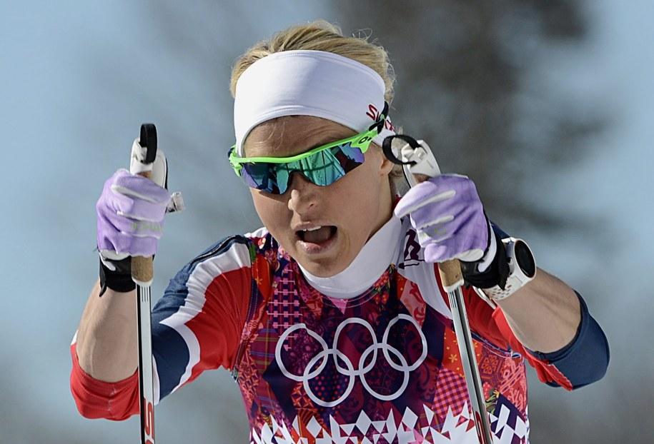 Therese Johaug na trasie biegu na 10 km techniką klasyczną /FILIP SINGER /PAP/EPA