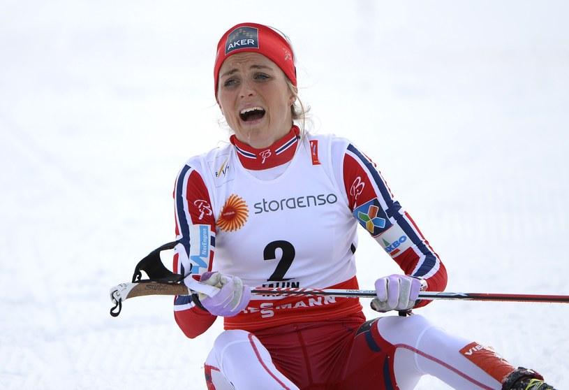 Therese Johaug tuż po wielkim triumfie /AFP