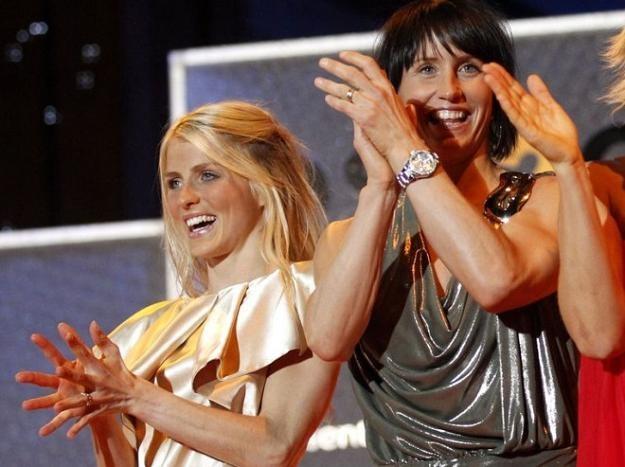 Therese Johaug (z lewej) i Marit Bjoergen /AFP