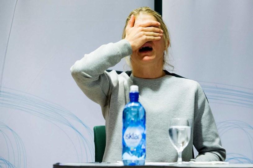 Therese Johaug zrozpaczona po wybuchu afery dopingowej /AFP