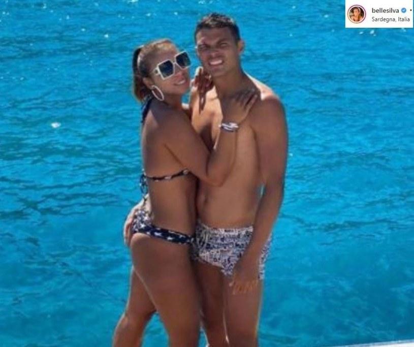 Thiago Silva z żoną/ Źródło: Instagram /