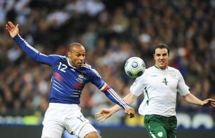Thierry Henry - antybohater meczu Francja - Irlandia /AFP