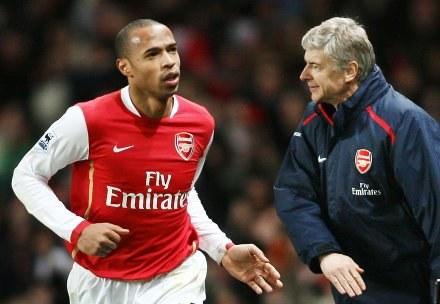 Thierry Henry i Arsene Wenger /AFP