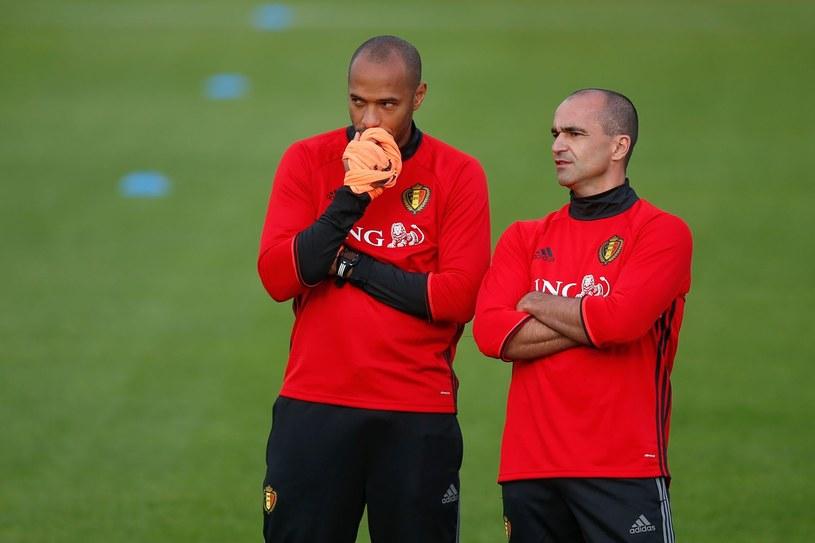 Thierry Henry i Roberto Martinez (z prawej) /AFP
