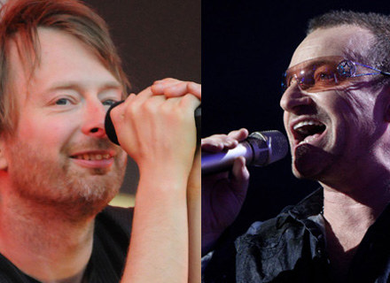Thom Yorke (Radiohead) i Bono (U2) - fot. Jim Dyson / Dave Hogan /Getty Images/Flash Press Media