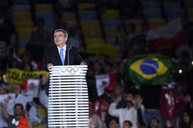 Thomas Bach na zamknięciu igrzysk w Rio /AFP