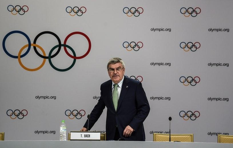 Thomas Bach, przewodniczący MKOl-u /AFP