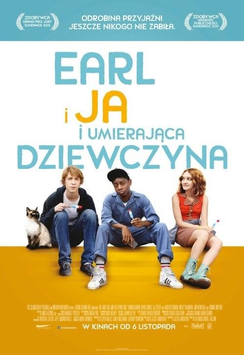 """Thomas Mann, RJ Cyler i Olivia Cooke na plakacie filmu """"Eral i ja, i umierająca dziewczyna"""" /materiały prasowe"""