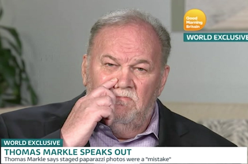 Thomas Markle, ojciec Meghan /Good Morning Britain /East News