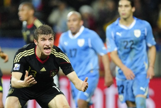 Thomas Mueller był najlepszym młodym piłkarzem MŚ. /AFP