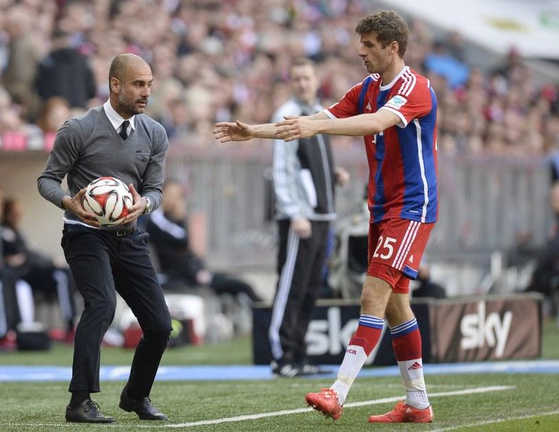 Thomas Mueller i Pep Guardiola /AFP