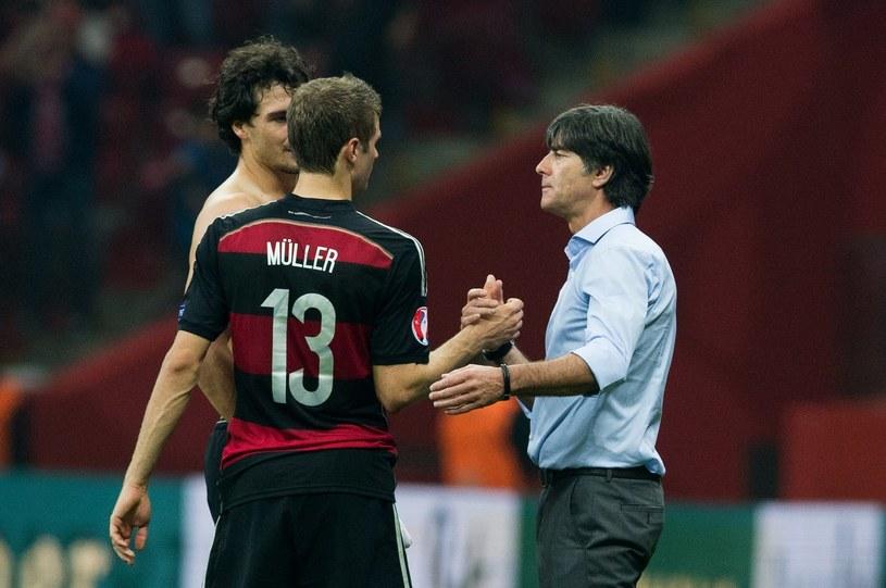 Thomas Mueller, Mats Hummels i trener Joachim Loew /AFP