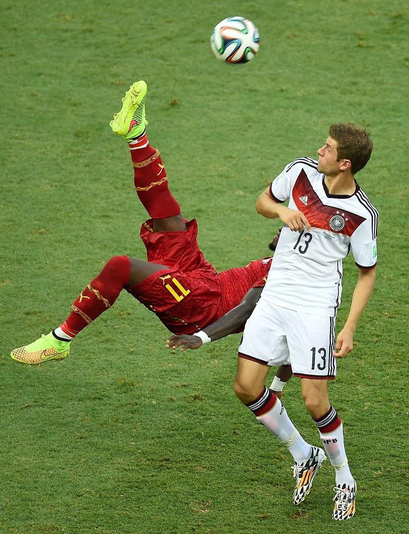 Thomas Mueller podczas meczu z Ghaną (2-2) /AFP