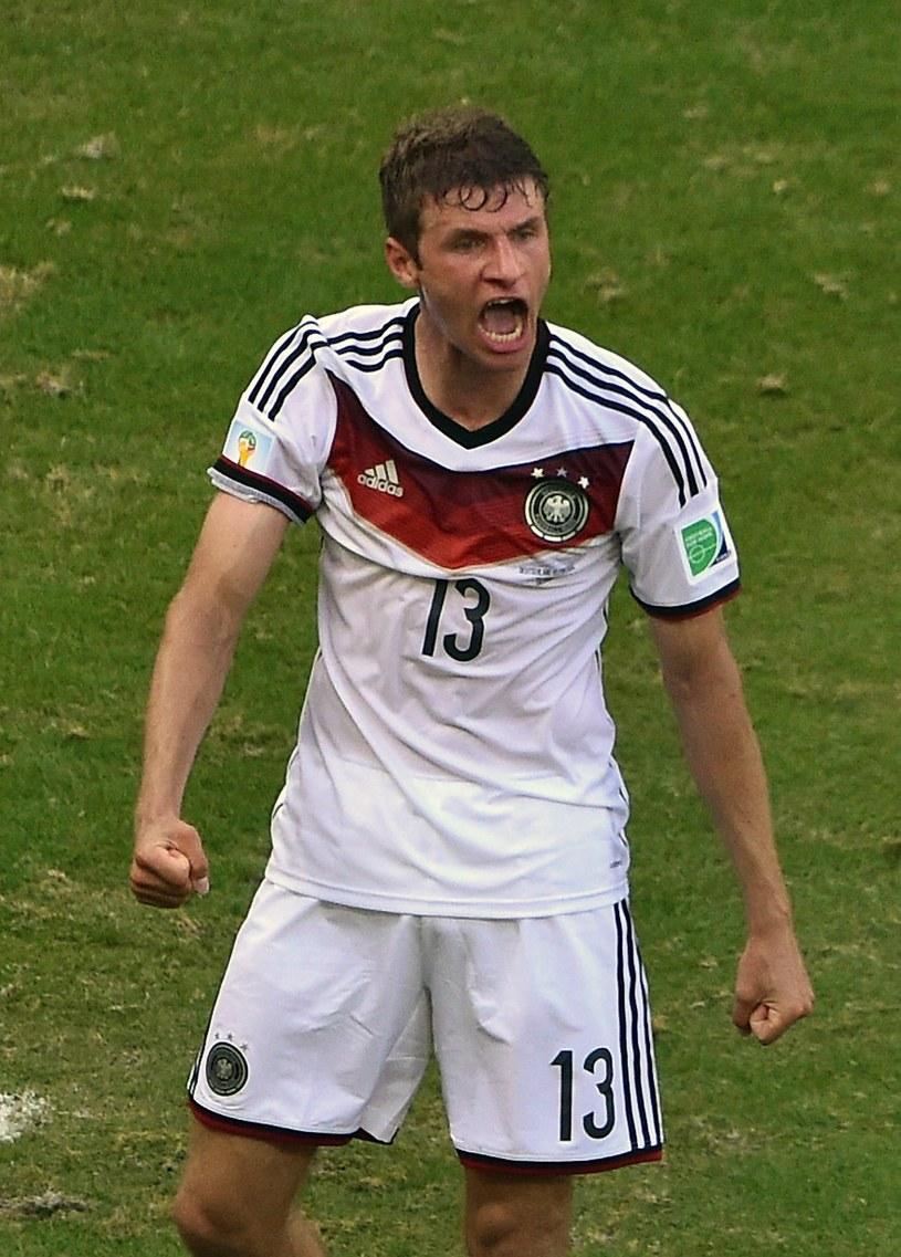 Thomas Mueller strzelił już cztery gole na mundialu w Brazylii /AFP