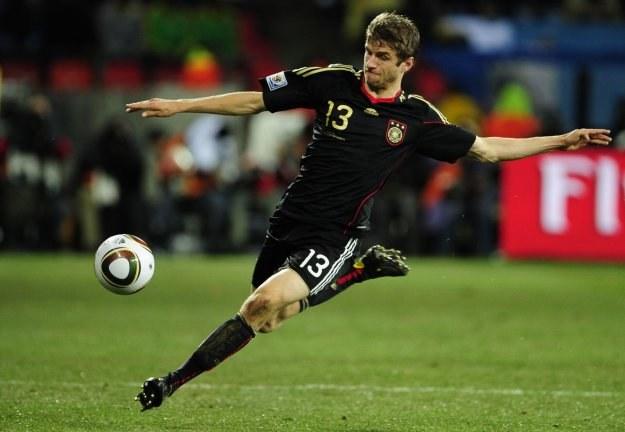 Thomas Mueller strzelił na mundialu w RPA pięć goli /AFP