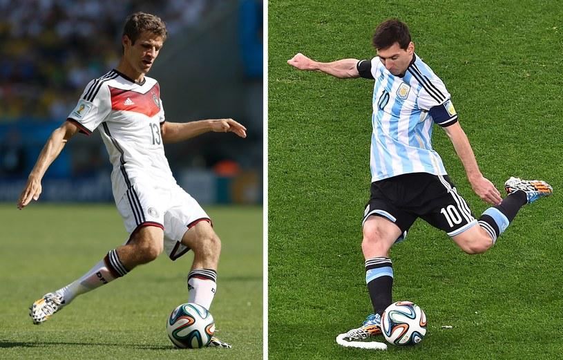 Thomas Mueller (z lewej) i Lionel Messi /AFP