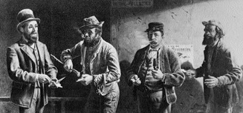 Thomas Waterman Wood, Amerykańscy obywatele podczas wyborów, 1867 r. /Encyklopedia Internautica
