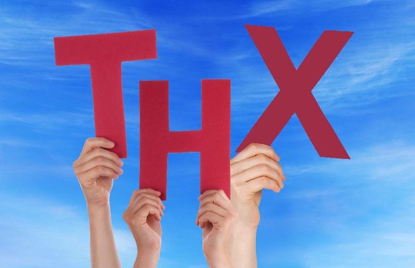 THX - oznacza dziękuję /©123RF/PICSEL