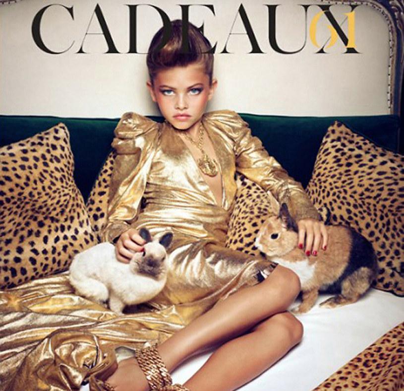 Thylane Blondeau w kontrowersyjnej sesji zdjęciowej dla Vogue'a /East News