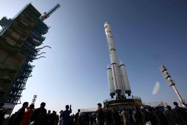 Tiangong 1 tuż przed startem. Początek nowej ery podboju kosmosu? /AFP