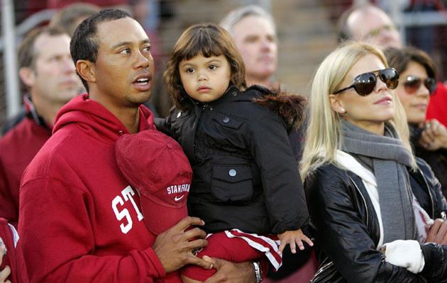 Tiger Woods z żoną i córką, fot. Ezra Shaw  /Getty Images/Flash Press Media
