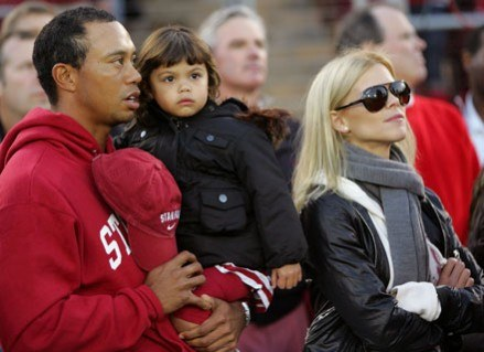 Tiger Woods z żoną /Getty Images/Flash Press Media