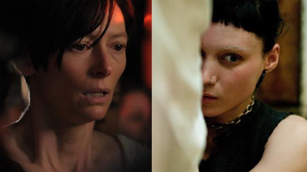 """Tilda Swinton (L) """"musi porozmawiać o Kevinie"""", a Rooney Mara (P) jest """"dziewczyną z tatuażem"""" /materiały dystrybutora"""